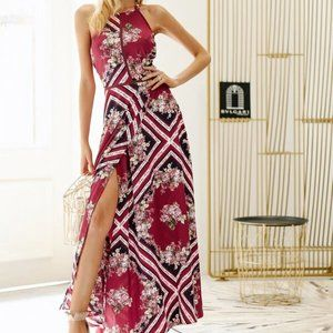NWT Simplee Ruffle Floral Maxi Dress – S
